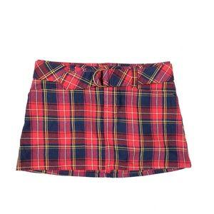 Abercrombie & Fitch 2 XS Vintage 90s Skirt Plaid
